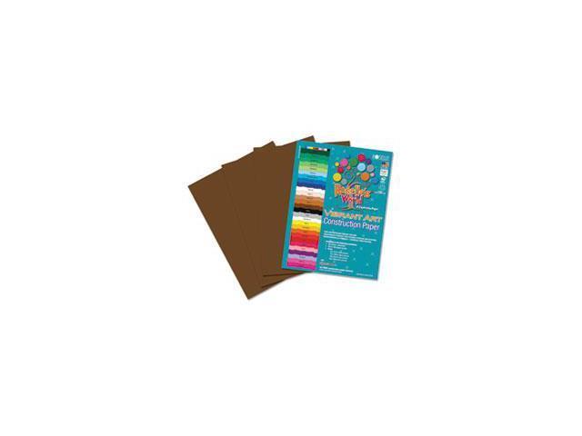 Heavyweight Construction Paper, 58 lbs., 9 x 12, Dark Brown, 50 Sheets