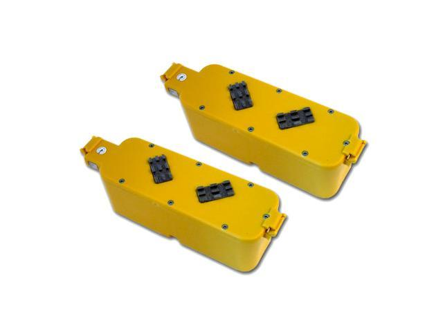2 Pack Tenergy Replacement Battery with hard case (Yellow Color) for Roomba APS 4905 400 series Vacuum Cleaner