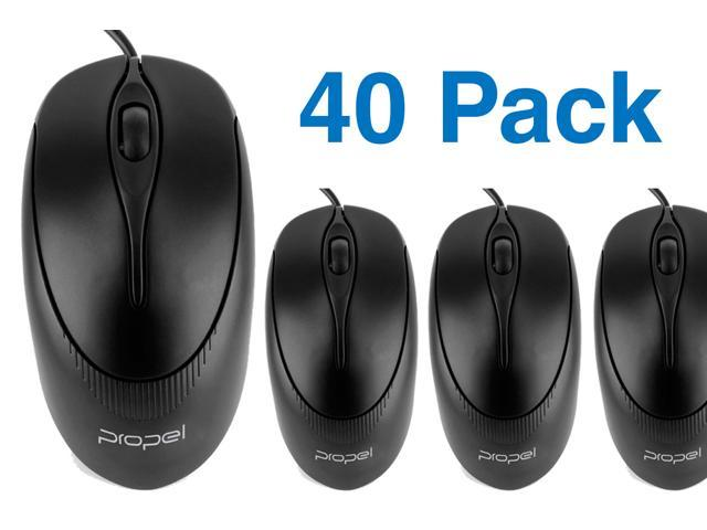 Propel® (40 Pack) PM105 3-Button USB Wired 1000-dpi Optical Mouse- Up to 50% Savings (unit price: $3.49 ea.)