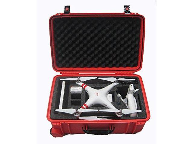 DJI Phantom 2 Hard Case. Military Spec Carrying Case with Foam for Phantom 2 / 2 Vision / Vision Plus Quadcopter and GoPro Accessories (Phantom ...
