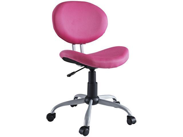 Comfort Groove Swivel Mesh Task Chair in Pink
