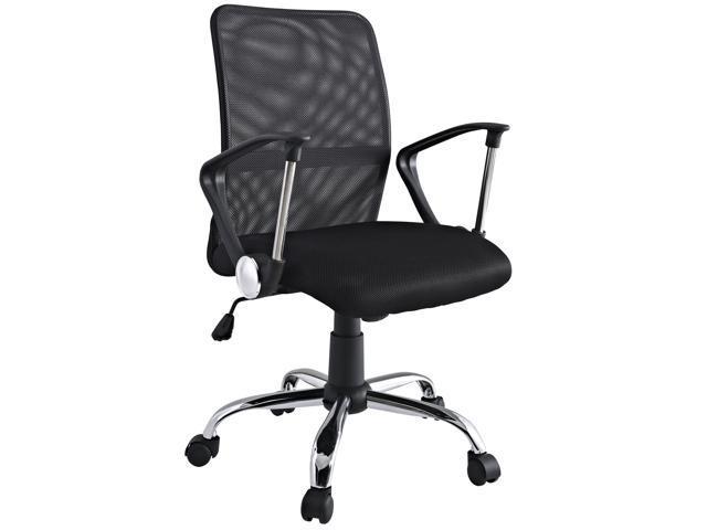 Pilot Breathable Mesh Task Swivel Office Chair in Black