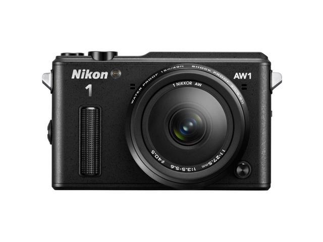 Nikon | 1 AW1 Black | 14-megapixel Digital Camera w/ AW 11-27.5mm
