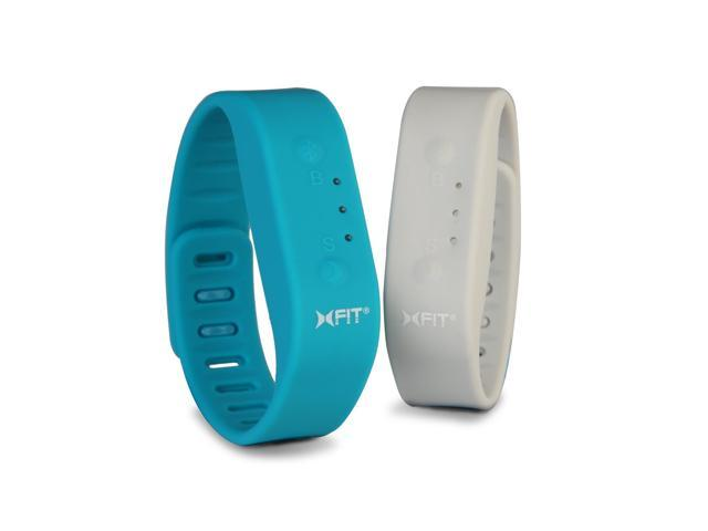 Xfit Band 40403 turquoise/gray Activity and Sleep Monitor with Two Bands