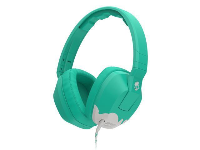 Skullcandy Crusher Bunny Teal/Light Gray Over-Ear Headphones with Built-in Amplifier & Mic (S6SCGY-398)