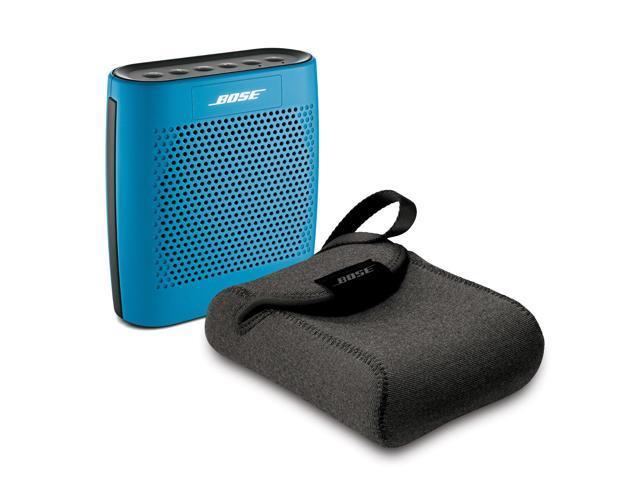 Bose SoundLink Color Blue Bundle Bluetooth Mobile Speaker with Travel Case