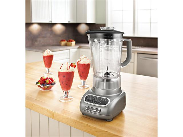 New KitchenAid Silver 5-Speed Blender ksb560cs unbreakable Jar Poly Carbonat USA