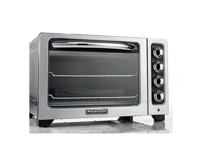 KitchenAid KCO222cs Countertop Oven Onyx Silver Toaster pizza Oven Bake Broil Manufacturer Refurbished
