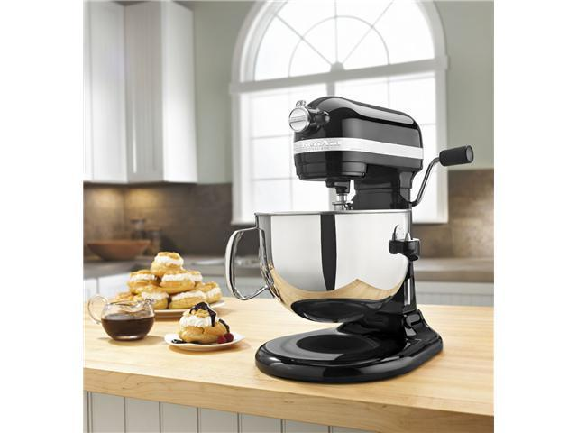 Kitchenaid R-KP26M1Xob Pro 600 Stand Mixer 6-qt Black Super Capacity 6000 Big Metal Manufacturer Refurbished