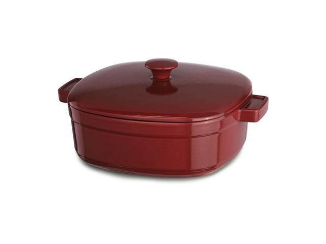 KitchenAid Cast Iron Streamline Cookware KCLI60CRER Empire Red 6-Quart Casserole