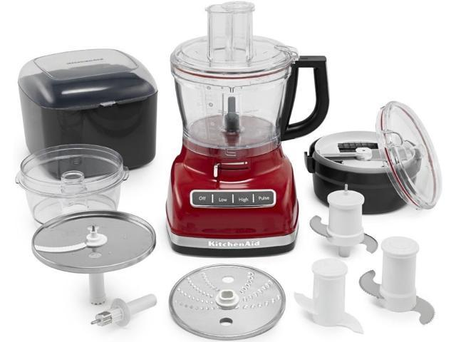KitchenAid KFP1466ER 14-Cup Food Processor Exact Slice System Dicing Onyx Red