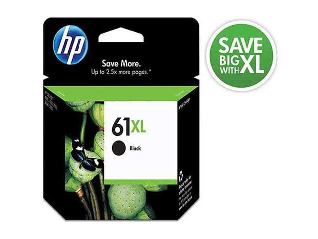 HP 61XL Black Inkjet Print Cartridge. Save more up to 2x more pages