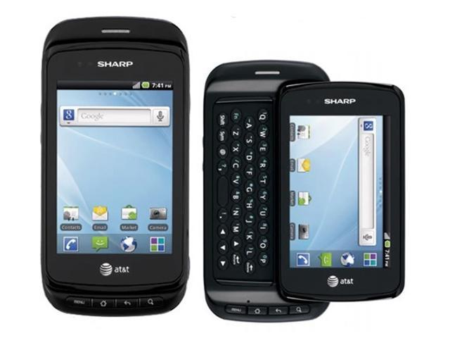 Sharp FX Plus ADS1 Black 3G Android Touchscreen GSM Unlocked Cell Phone