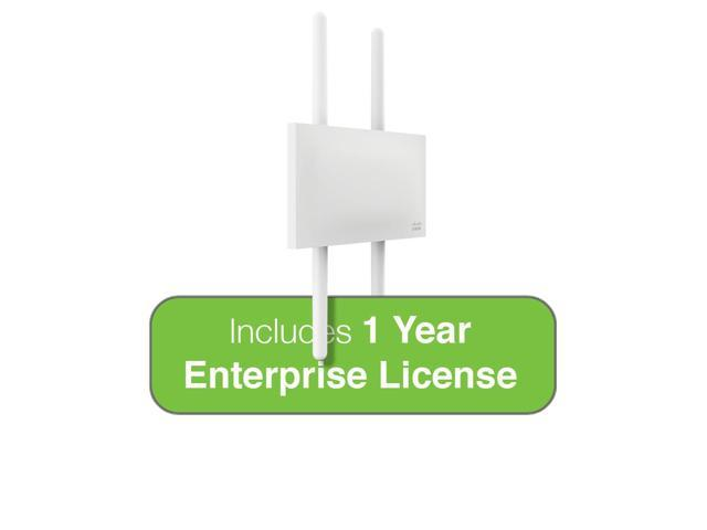 Cisco Meraki MR72 Dual-Band 3-Radio 802.11ac 2x2 MIMO Outdoor Access Point with 1 Year Enterprise License, 4 N-Type Omni Ant.