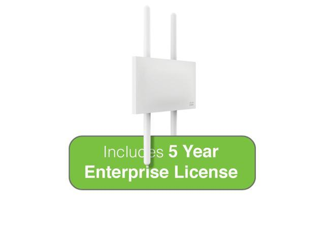 Cisco Meraki MR72 Dual-Band 3-Radio 802.11ac 2x2 MIMO Outdoor Access Point with 5 Years Enterprise License, 4 N-Type Omni Ant.
