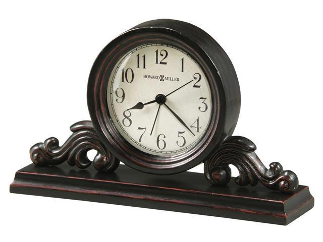 Bishop Tabletop Clock w Wood Mantel Base and Round Dial