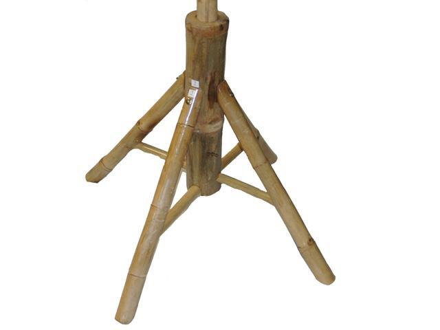 Sturdy Bamboo Umbrella Stand For Patio or Beach Umbrellas