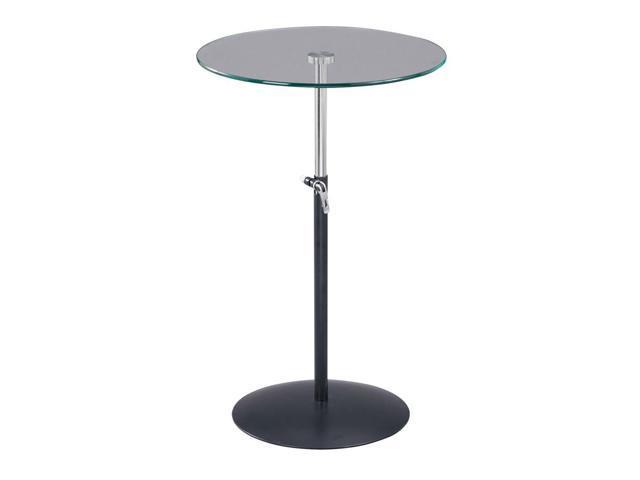 Soho Adjustable Table in Black & Steel Finish