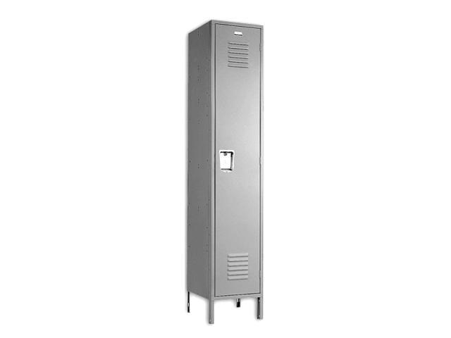 Ventilated Single Tier Steel Locker & Recessed Handle (Tan)