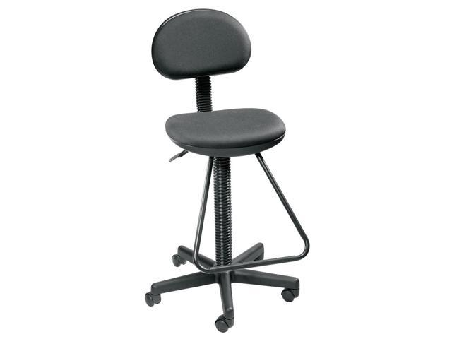 Economy Drafting Chair w Footrest in Black