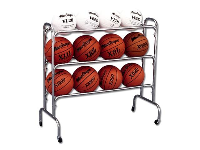 Official Sized 12-Ball Tubular Steel Cart on Casters