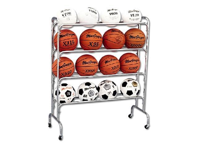 Tubular Steel 16-Ball Cart on Casters