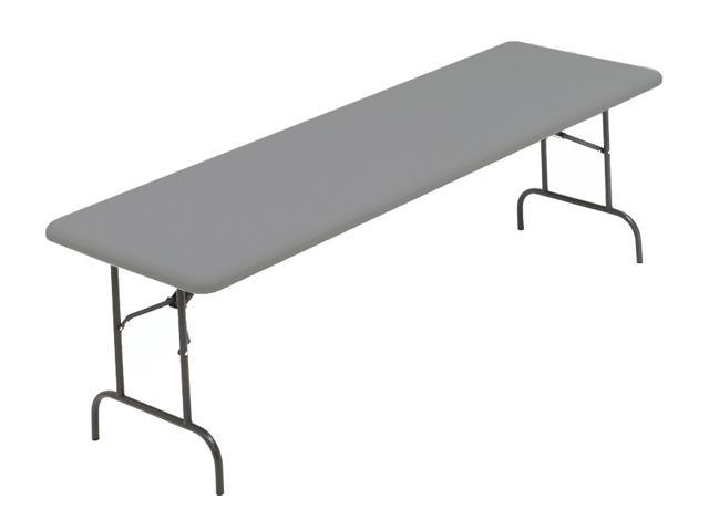 IndestrucTable TOO 1200 Series Multi-Purpose Folding Table w Steel Frame (96 in. L x 30 in. W - Charcoal)