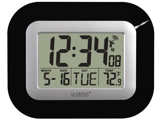 Atomic Digital Wall or Desk Clock (White)