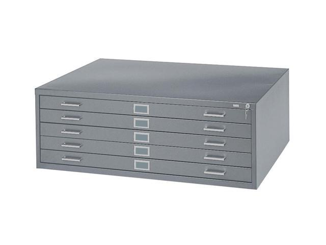 36 x 24 in. Steel Flat File in Gray w 5 Drawers