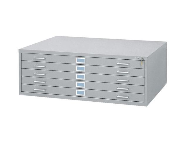 42 x 30 in. Steel Flat File in Gray w 5 Drawers