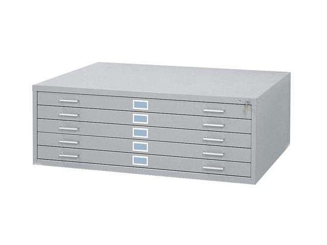 48 x 36 in. Steel Flat File in Gray w 5 Drawers