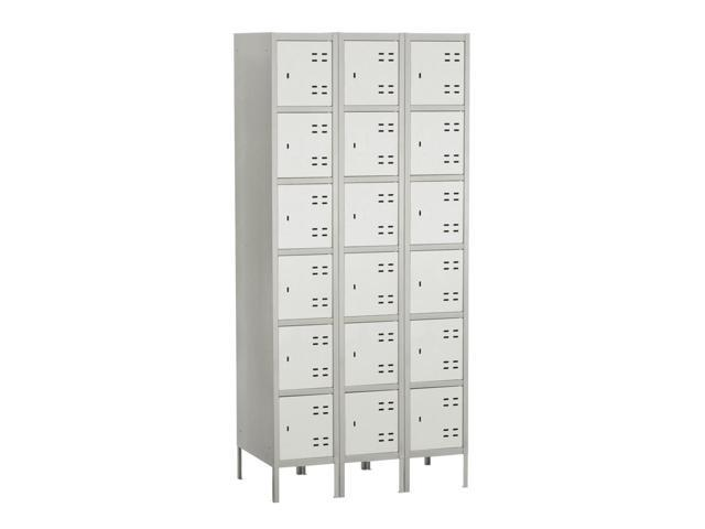 3 Columns 6 Steel Tier Locker (Gray)