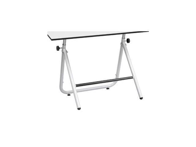 Easy Fold Table Base w Footrest (Black)