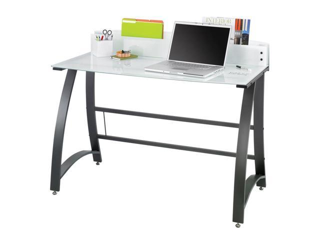 Xpressions 47 in. Computer Workstation w Tempered Glass Laptop Desk (Keyboard Tray)