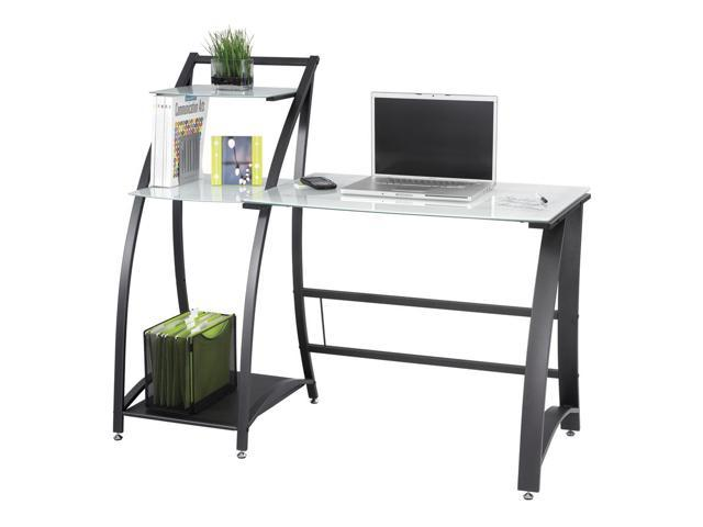 Xpressions Computer Workstation w Tempered Glass Laptop Desk (Keyboard Tray)