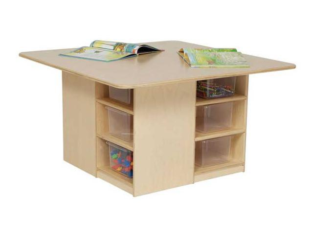 Kid's Play Cubby Table w 12 Clear Trays