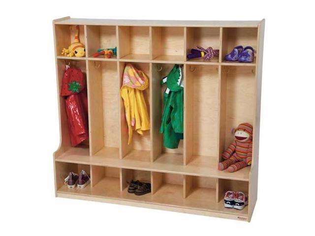 Kid's Play 6-Section Seat Locker (Natural)