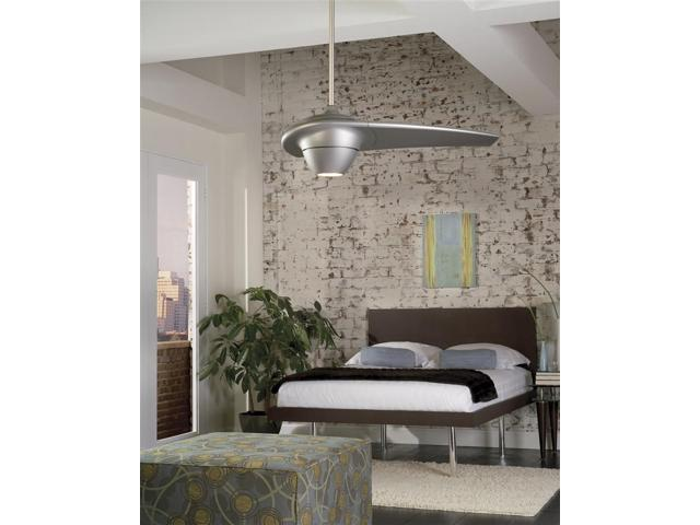 Enigma Contemporary Single Blade Ceiling Fan in Metro Gray