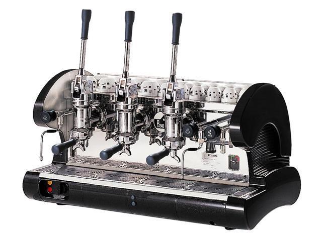 Commercial Pull Lever Espresso Machine 3 Groups (Black)
