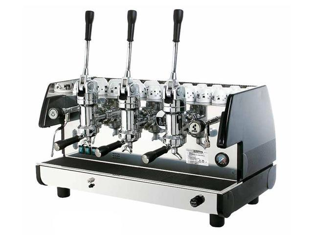 Commercial Lever Espresso Machine 3 Groups & 2 Steam Wands (Red)