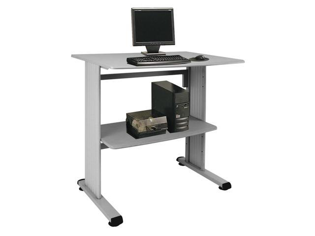 Standup Workstation with Beveled Edge (Gray Steel)