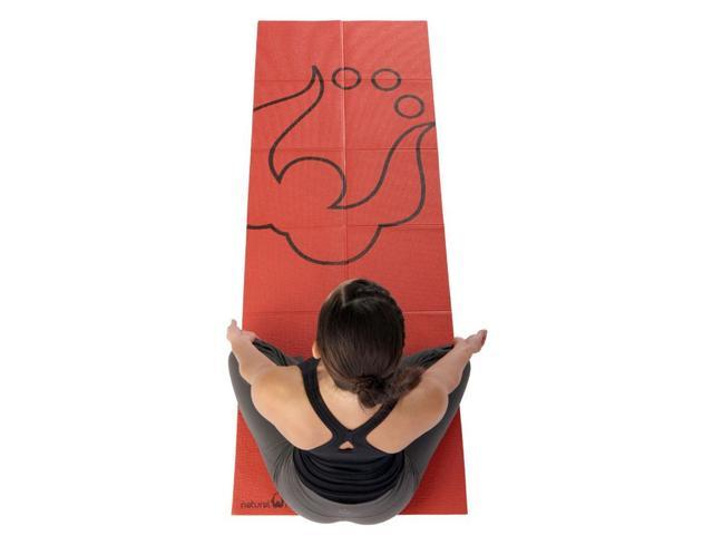 Roam Folding Yoga Mat in Red