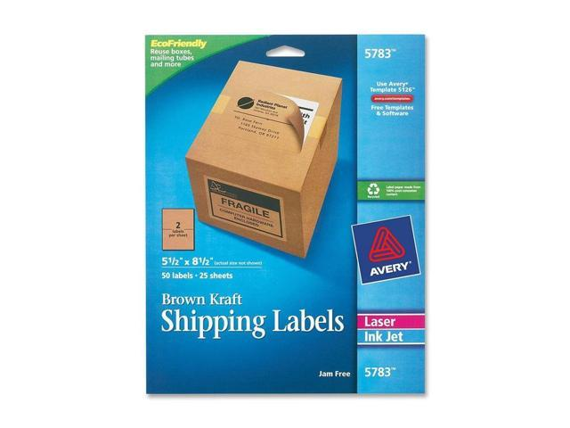 Avery Dennison Internet Shipping Labels, 5-1/2