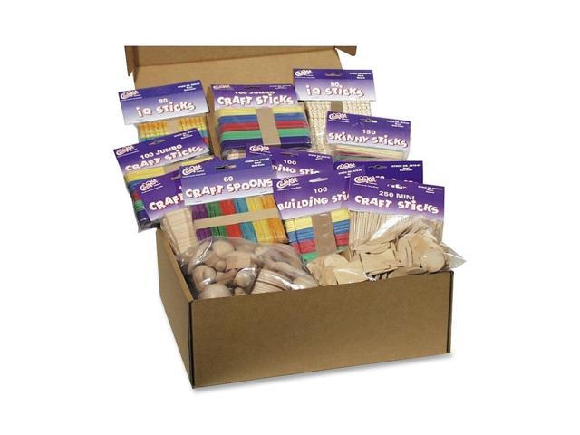 Chenille Kraft Company Wood Crafts Classroom Activities Kit, 2100 Pieces