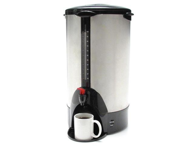 "Coffeepro Urn/Coffeemaker,100 Cup,13-1/2""X12-1/2""X23"",Stainless Steel"