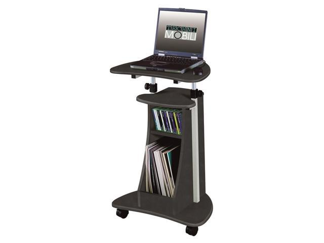 Compact Adjustable Mobile Laptop Caddy with Shelves