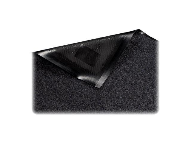 Genuine Joe Indoor Mat, Nylon Carpet, Rubber Back, 3'X5', Black