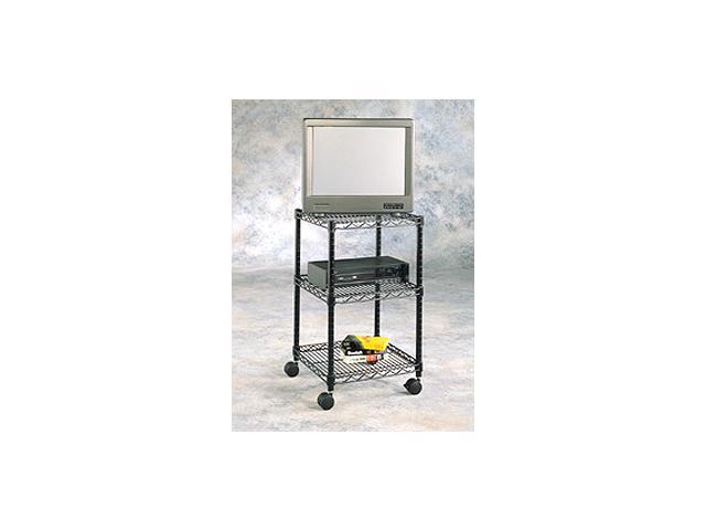 Compact TV Wire Cart w Shelf