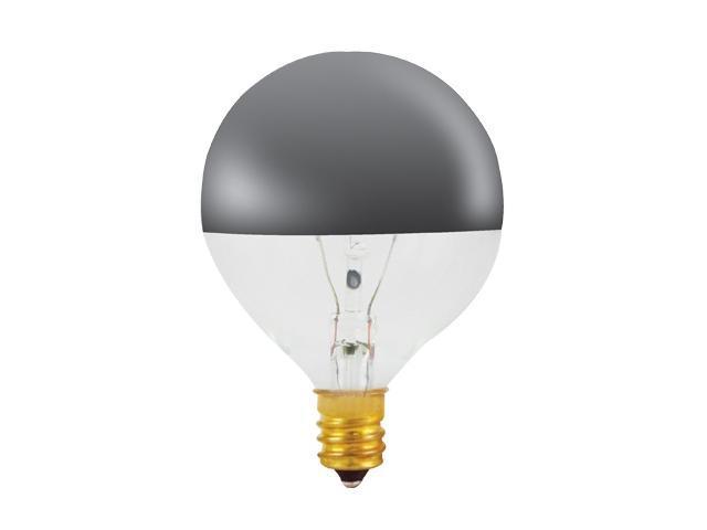 Half Chrome Globe Light Bulbs - 25 Bulbs (40W)
