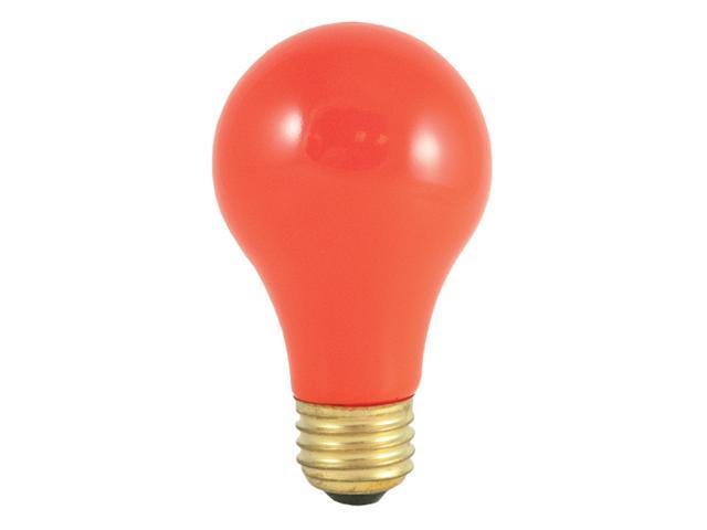 Halloween Standard Ceramic Light Bulbs with Orange Shade - 24 Bulbs (40w)